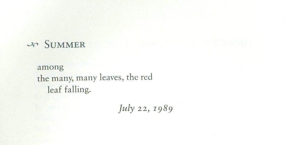Summer « PoemShape