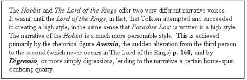 Hobbit Footnote