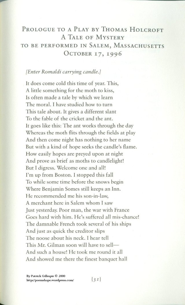 Opening Book: Prologue to a Play by Thomas Holcroft Page 19-19