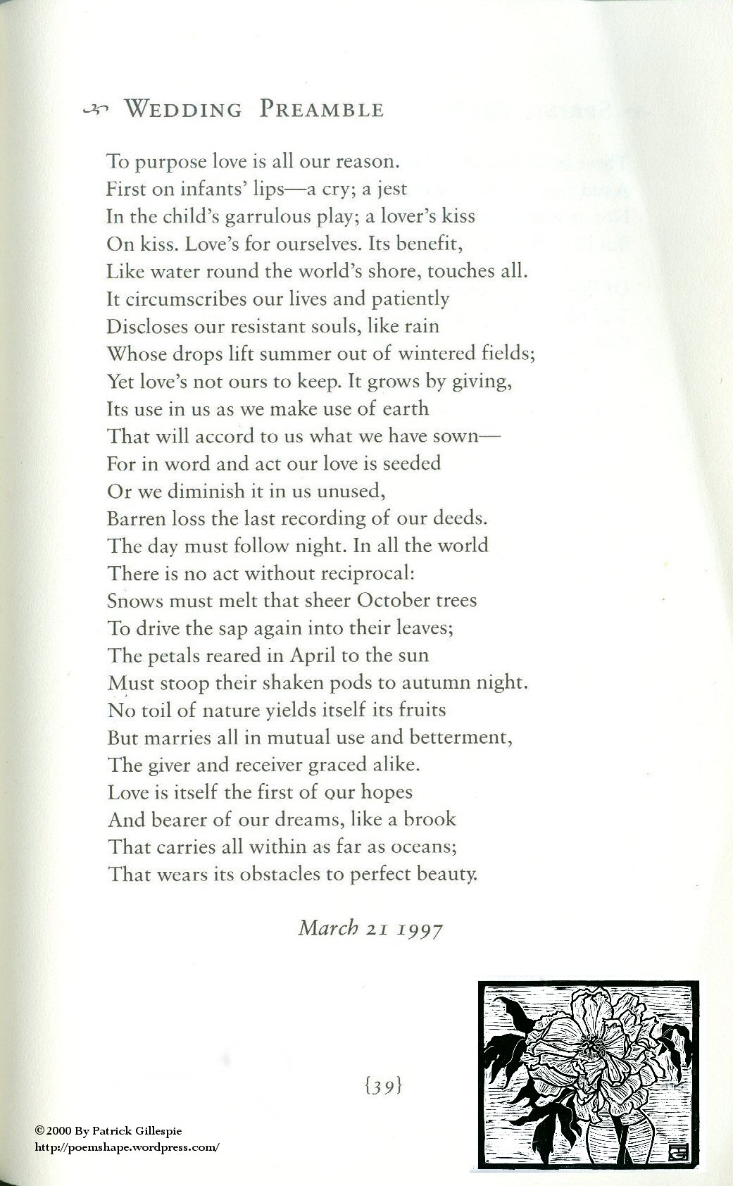 Page 39 Wedding Preamble