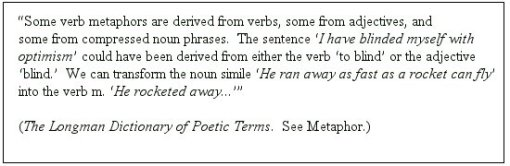 Verb Metaphor Footnote