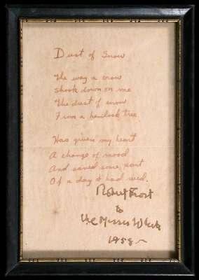 Dust of Snow - Manuscript