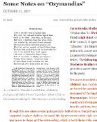 Ozymandias analysis essay