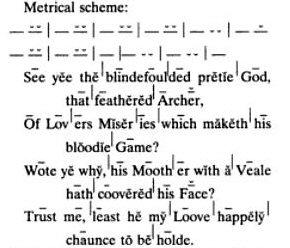 Quantitative Verse (Sample from Spenser Encyclopedia)