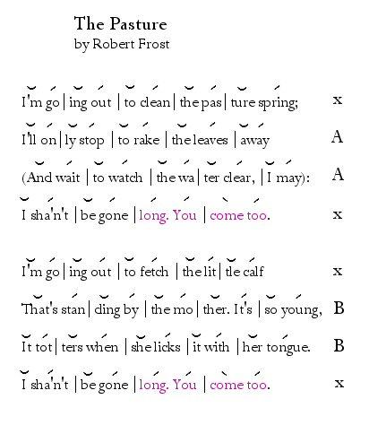 Robert Frost's: The Pasture