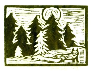 Woodcut Full Fox Print (Color Corrected)