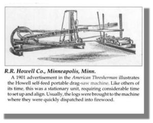 The Howell Drag Saw Machine