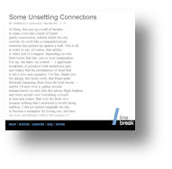 Some Unsettling Connections - Linebreak