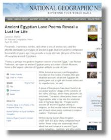 National Geographic's Egyptian Poetry Discovery