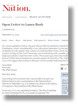 Open Letter to Bush
