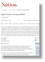 Open Letter to Bush