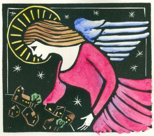Second Angel - BlockPrint