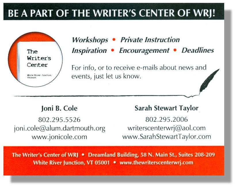 The Writer's Center Side-B