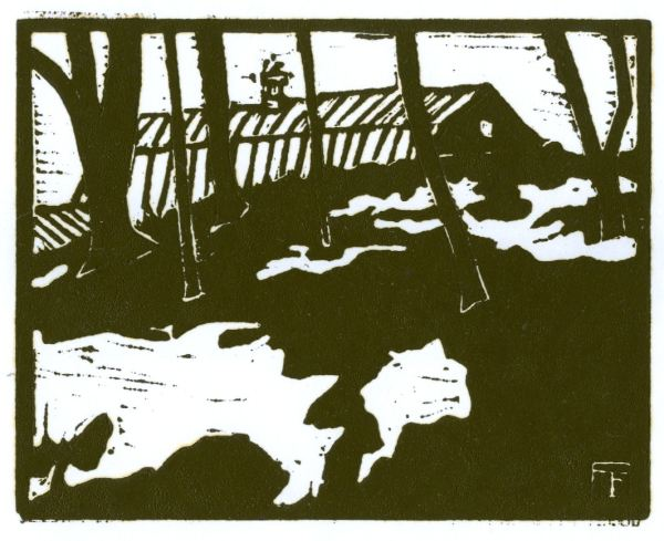 Barn Roof (Rich Ink) (Block Print)