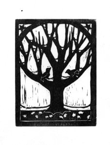 Birds & Tree (Block Print)