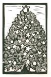 Christmas Tree B&W   (Block Print)