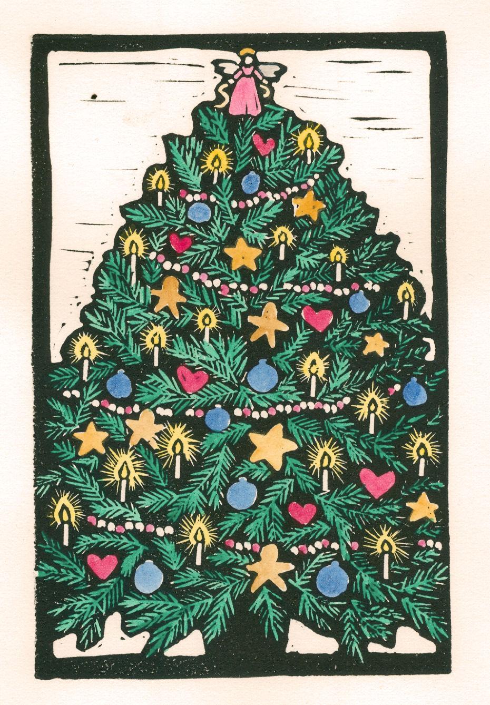 Christmas Tree Color (Block Print) « PoemShape