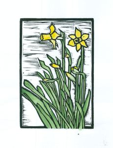 Daffodils  (Block Print)