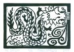 Dragon - A  (Block Print)
