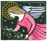 First Angel (Block Print)