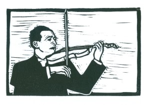 Joshua Heifitz  (Block Print)