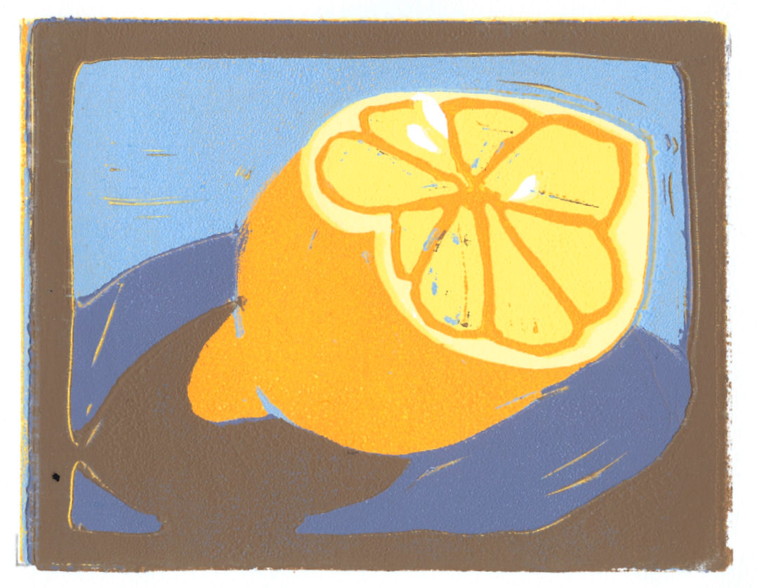 Lemon (Block Print)