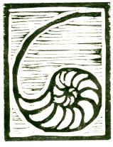 Light Nautilus (Block Print)