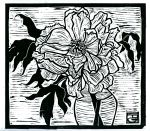 MoonFlower (Block Print)