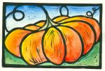 Painted Pumpkin (Block Print)