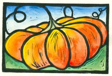 Painted Pumpkin (Block Print)