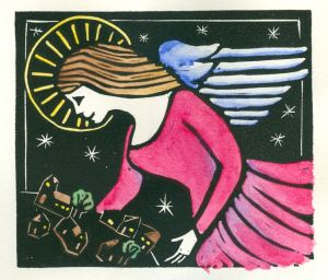 Second Angel (Block Print)