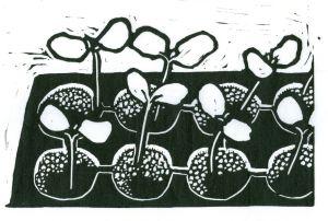 Seedlings (Block Print)