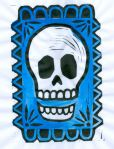 Skull the Blue (BlockPrint)