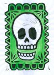 Skull the Green (BlockPrint)