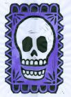Skull the Purple BlockPrint (Block Print)