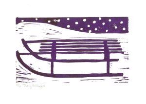Sled Purple (Block Print)