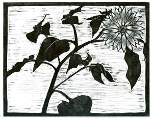 Sun Flower (Block Print)