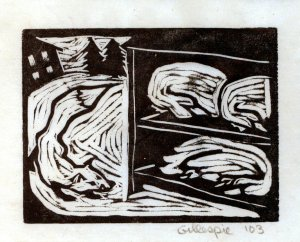 Fox B ~ Fox & Chickens (Block Print)