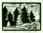 Fox A ~ Fox & Woods (Block Print)