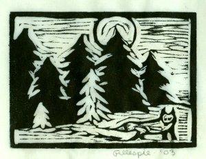Fox A ~ Fox & Woods (Block Print)