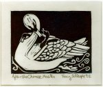 Woodcut Swan (Block Print)