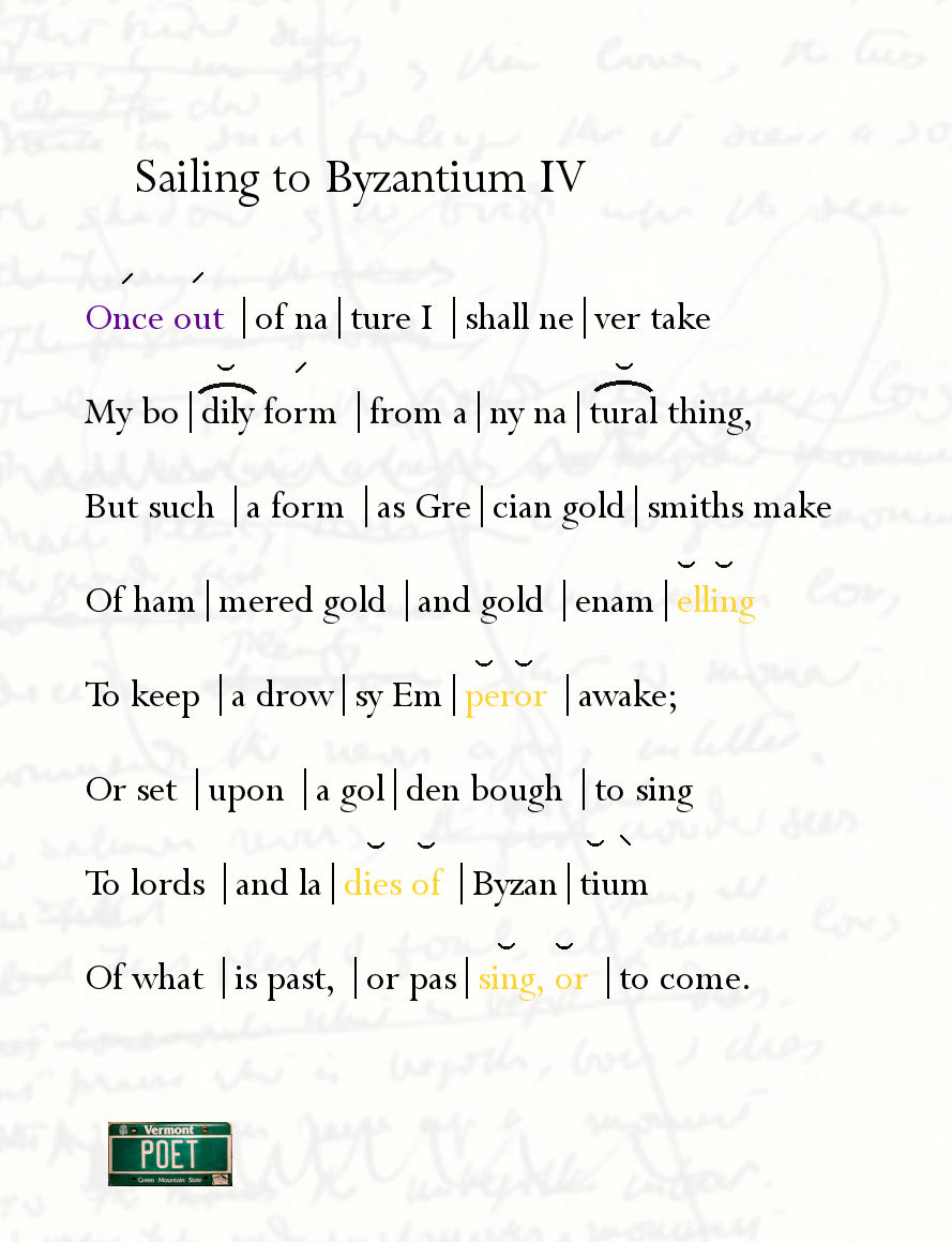 sailing to byzantium yeats essay Read sailing to byzantium free essay and over 88,000 other research documents sailing to byzantium william butler yeats,one of the most important figures in the.