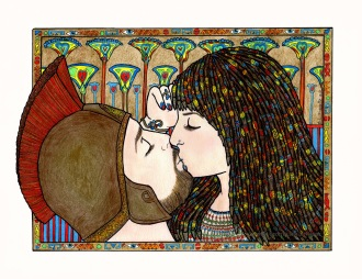 Cleopatra and Antony -Colored Pencil, Copyrighted