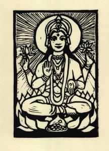 lakshmi B&W (Block Print)