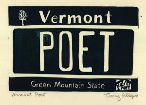 Vermont Poet (Block Print)