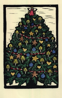 X-Mas Tree Color (Block Print)