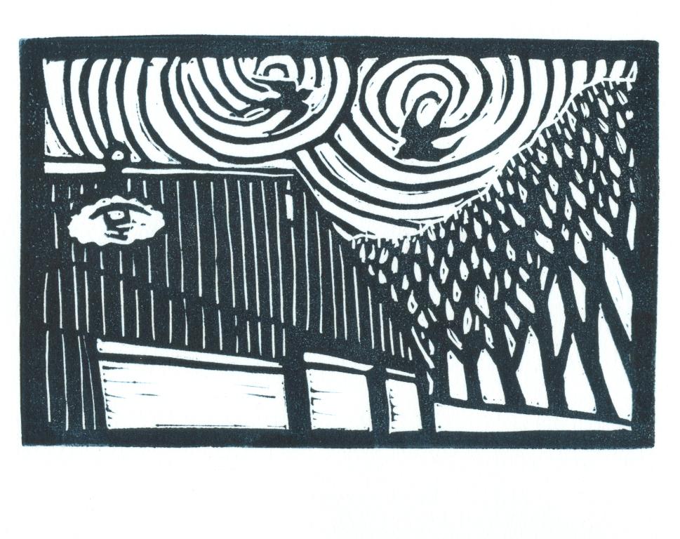 Gravitational Waves-Block Print-Tracy Gillespie(50 percent)