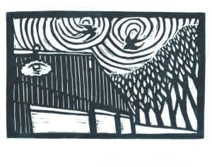 Gravitational Waves-Block Print-Tracy Gillespie(50 percent)
