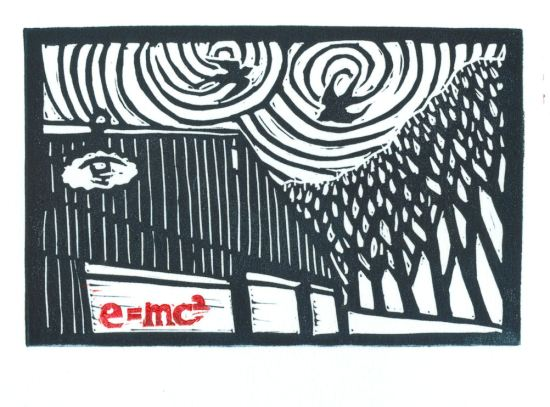 Gravitational Waves-EMC2-Block Print-Tracy Gillespie
