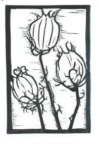 Death Rattles Block Print (B&W)